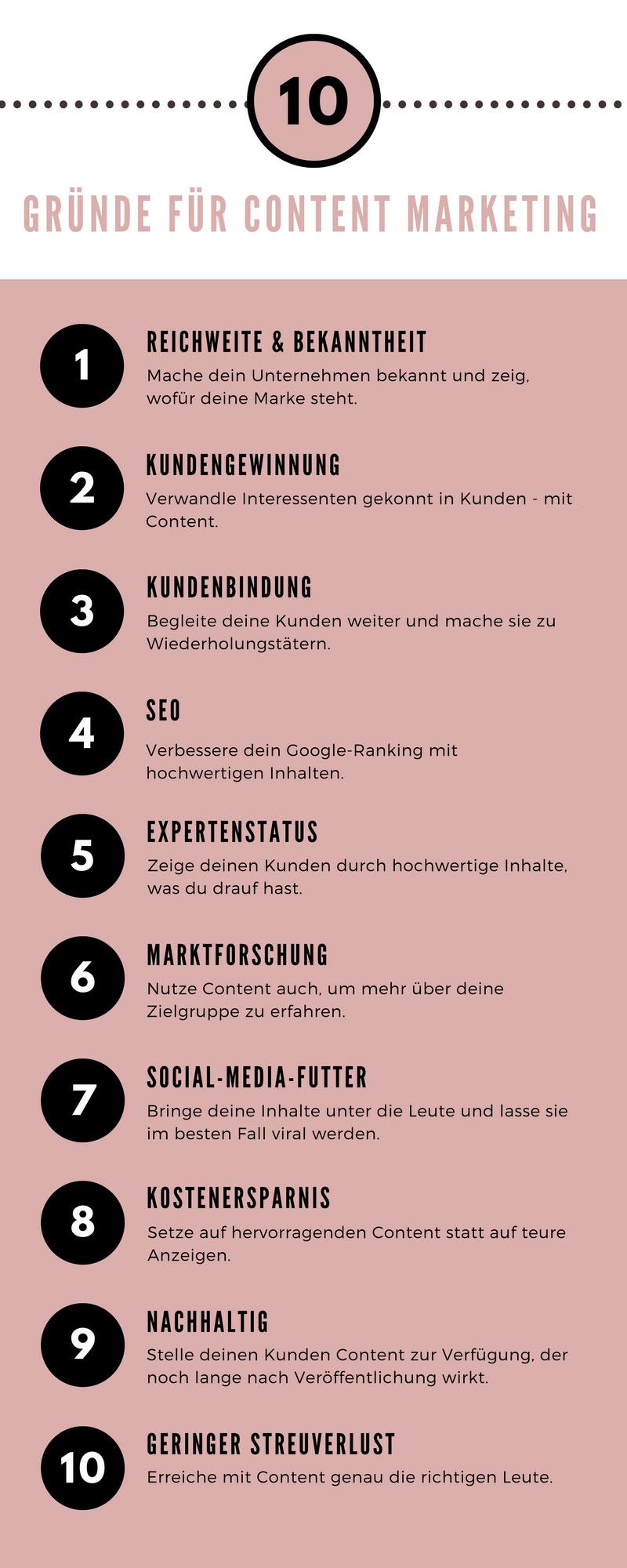 10 Gründe für Content Marketing | maditas-content.de