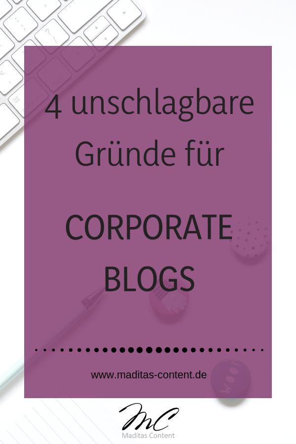 4 unschlagbare Gründe für Corporate Blogs