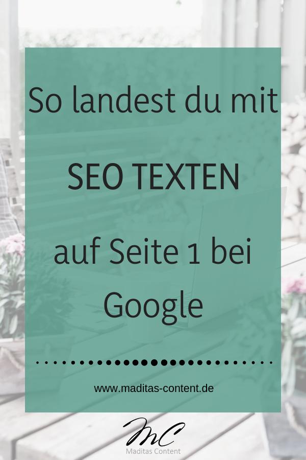 So landest du mit SEO-Texten auf Seite 1 bei Google