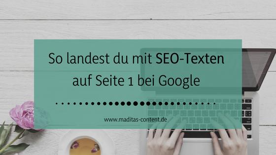 SEO-Texte | Maditas Content