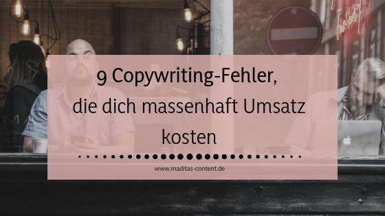 Die häufigsten Copywriting-Fehler | Maditas Content