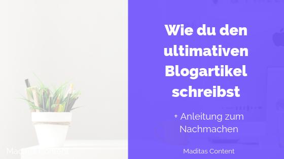 Blogartikel schreiben - Anleitung