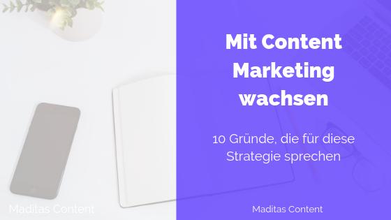Content Marketing für mehr Wachstum