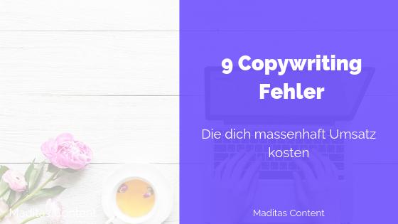 Machst du diese Fehler beim Copywriting?