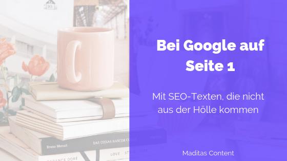 SEO Texte für Platz 1 bei Google