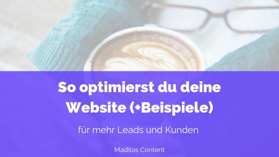 Website optimieren für mehr Kunden und Leads | Madita Schäkel