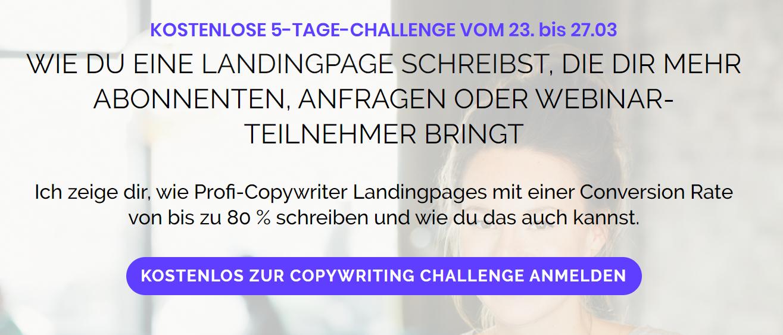 Landingpage erstellen für mehr Abonnenten, Teilnehmer und Anfragen