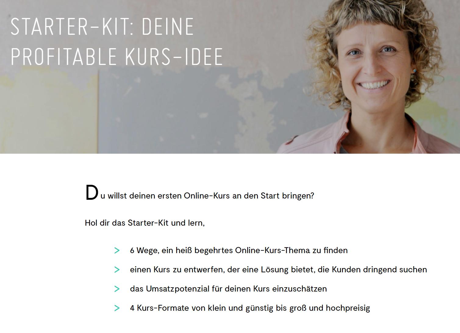 Landingpage erstellen - Beispiel Sandra Holze