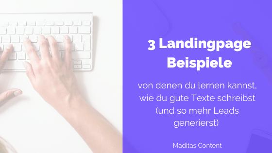 Landingpage Beispiele | Madita Schäkel