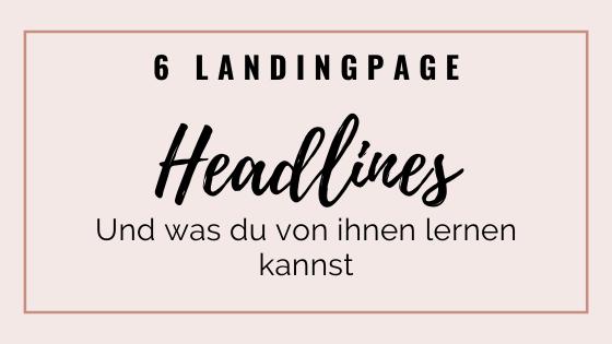 Landingpage Headlines | Madita Schäkel