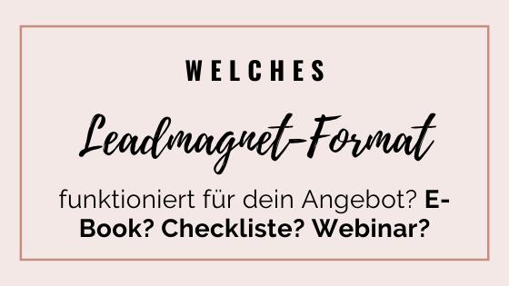 Leadmagnet fürs Online-Business | Madita Schäkel