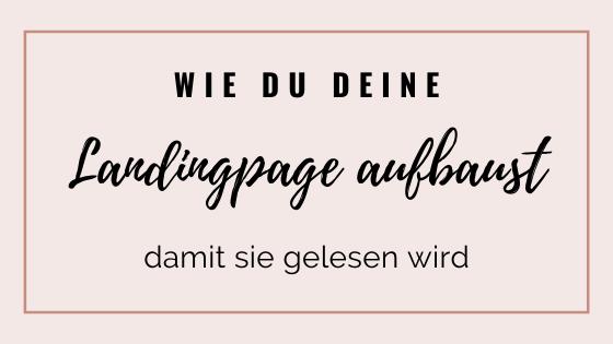 Aufbau Landingpage | Madita Schäkel
